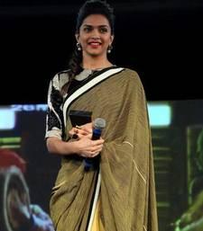 Buy Deepika padukon Green yellow Half Half saree deepika-padukone-saree online