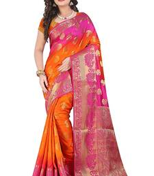 Buy Multicolor Banarasi silk saree with blouse designer-embroidered-saree online