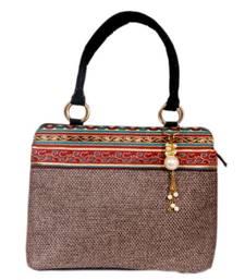Buy Craftstages Ethnic Designer Reshmi Jute Handbag handbag online