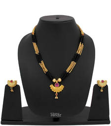 Buy gold plated mangalsutra karva-chauth-jewellery online