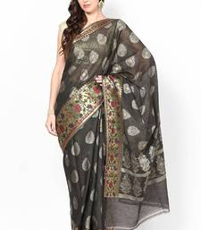 Buy Pure Chanderi Cotton Fancy Zari Banarasi Saree chanderi-saree online