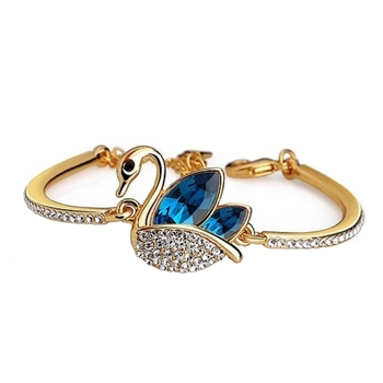Blue crystal bangles-and-bracelets
