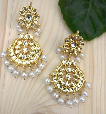 Kundan And Pearls Alia Chandbali