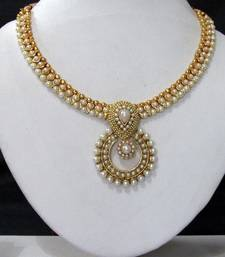 Buy White pearl necklace sets necklace-set online
