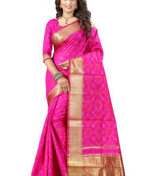 Buy Pink printed patola saree with blouse patola-sari online