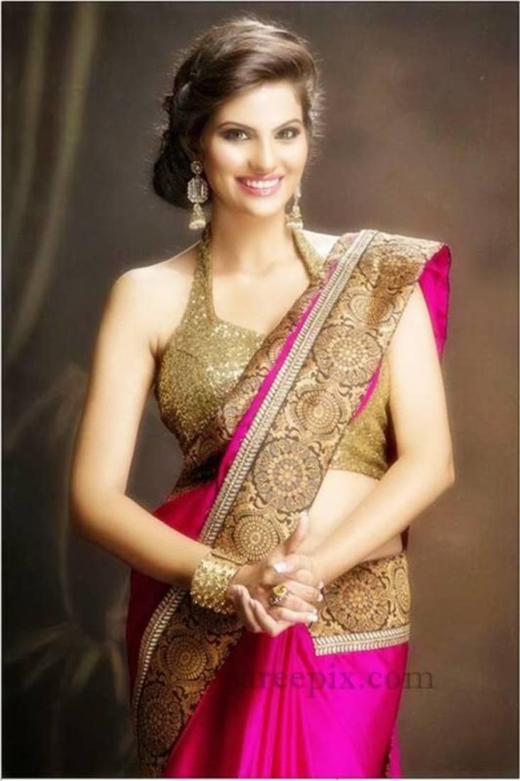 2807d5d5c2 Kritika sood indian bollywood saree, designer saree, party wear saree,  facny saree.