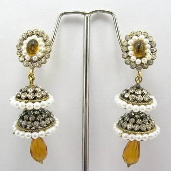 Victorian Double Torki Earrings (Yellow)