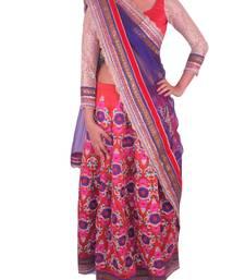 Buy Red Raw Silk Lehenga with heavy embroidery lehenga-choli online
