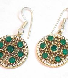 Buy Classic victorian style colored stone earring danglers-drop online