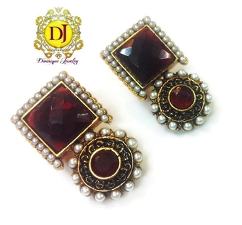 Red wine desire earrings