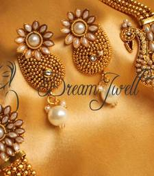 Beautiful Antique Pearl Peacock Mugappu Necklace Set