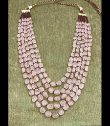 Buy Pink Semi precious stones and red onyx layered Necklace Necklace online