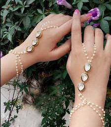 Buy Kundan and Pearls Hathphool women-ethnic-wear online