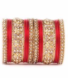 Buy Traditional Golden flower pattern bangle set fashion-deal online