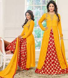Buy Yellow embroidered cotton silk salwar black-friday-deal-sale online