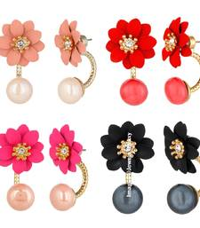 Buy Multicolor cubic zirconia earrings black-friday-deal-sale online
