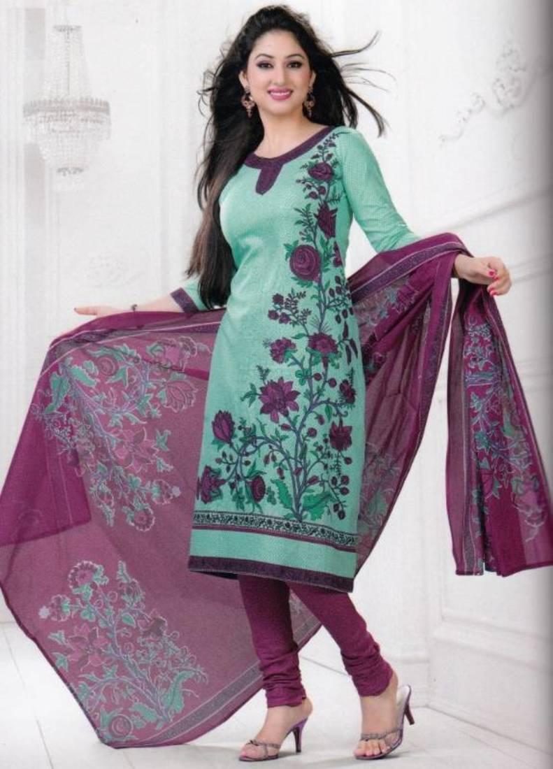 Buy Dress Material Cotton Designer Prints Unstitched