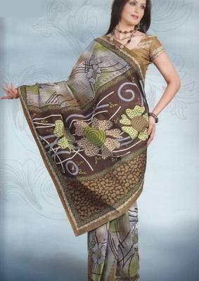 Sarees Cambric Cotton Designer Prints With Blouse Piece D.No 918