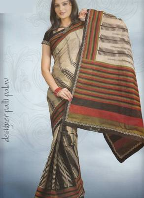 Sarees cambric cotton designer prints with blouse piece d.no 927