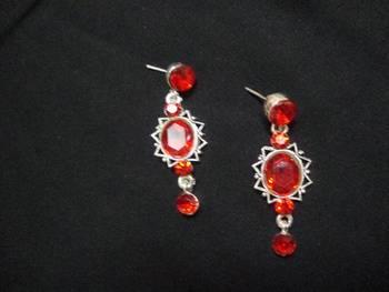 Red Rose Ear rings