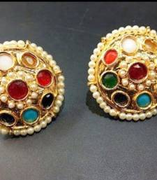 Jaipuri kundan meena  work colorful earrings
