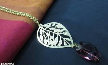 Golden_Nakshi_Leaf_Wine_Latkan_Chain_Neckpiece