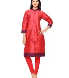 red beads silk stitched kurti