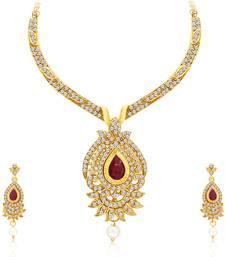 Buy Magnificent Necklace Set Detachable to Pendant Set with Chain necklace-set online