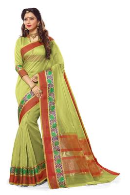 Olive maheshwari saree with blouse