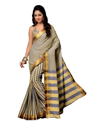 beige maheshwari saree with blouse