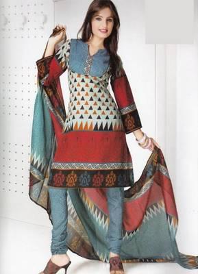 Dress material cotton designer prints unstitched salwar kameez suit d.no B10016