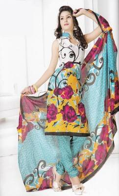 Dress material cotton designer prints unstitched salwar kameez suit d.no B10021
