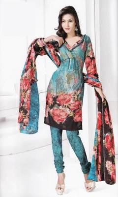 Dress material cotton designer prints unstitched salwar kameez suit d.no B10023