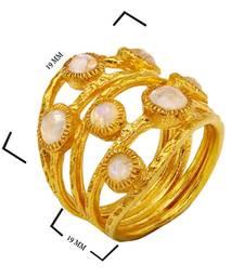 Buy 3.42 ct yellow studded jewellery gemstone rings gemstone-ring online