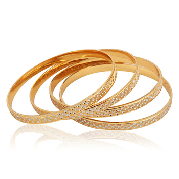 Bangle Gold Plated with Rhodium finish - Pack of 4