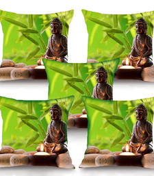 Buy Zen Buddhism HD Digital Premium Cushion Cover - Set of 5 (16 x 16 Inch) cushion-cover online