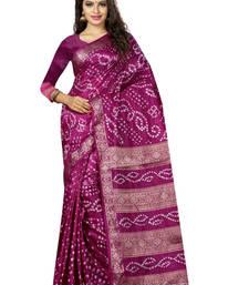 Buy Violet hand woven art silk sarees saree with blouse art-silk-saree online