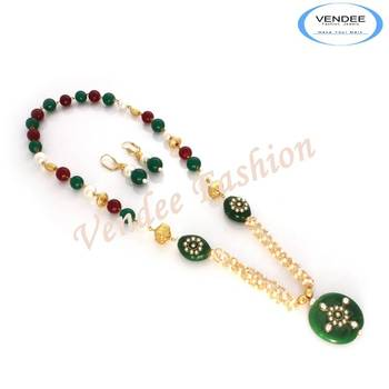 Outdoor Party wear Stones fashion necklace (7015)