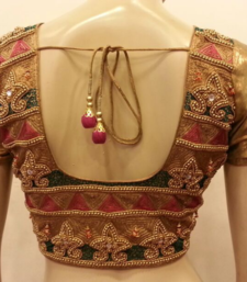 Golden handwork blouse