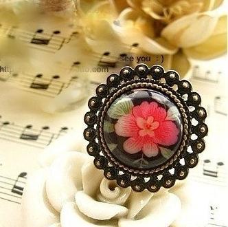 Flower Print Ring