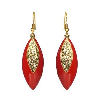 Red Emerald   Earrings