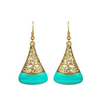Blue Drop Textured  Earrings