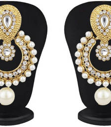 Ramleela Pearl Drop Chandbali Earrings