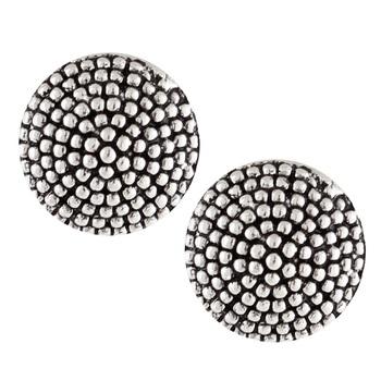 Silver Oxidised Round Shape Stud earrings