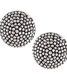 Buy Silver Oxidised Round Shape Stud earrings danglers-drop online