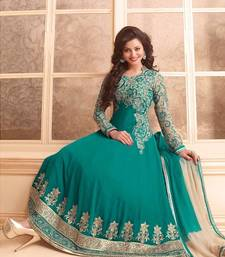Buy Opulent designer anarkali style attire party-wear-salwar-kameez online