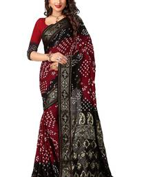 Buy Maroon printed silk saree with blouse great-indian-saree-festival online