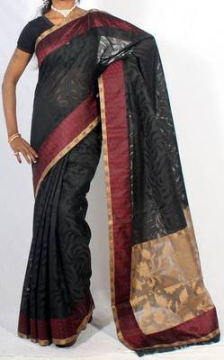 Designer Supernet fancy aanchal border saree