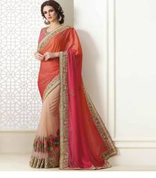 Buy Multicolor embroidered nylon saree with blouse heavy-work-saree online