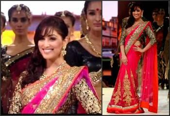 New Bollywood IIFA Award Pink Net Saree